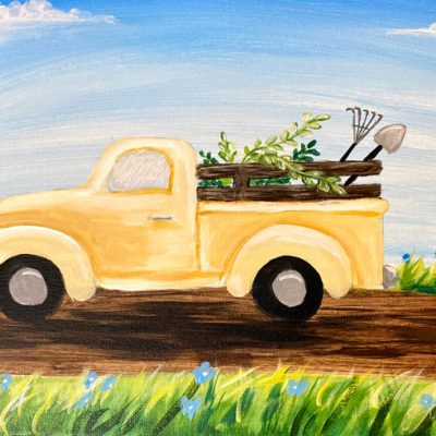 Spring Truck at Creatively Uncorked https://creativelyuncorked.com/