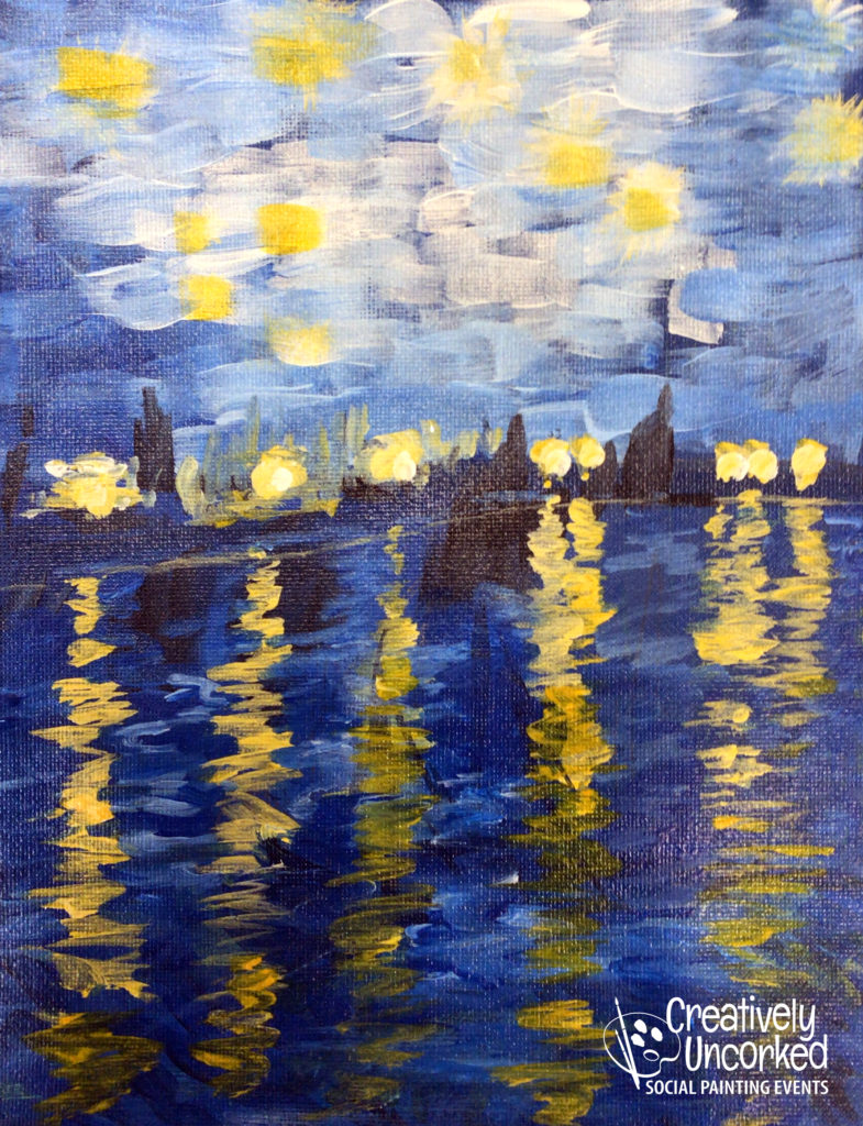 Starry Night Over The Rhone by Creatively Uncorked https://creativelyuncorked.com/