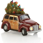 Ceramic Lighted Truck with Tree