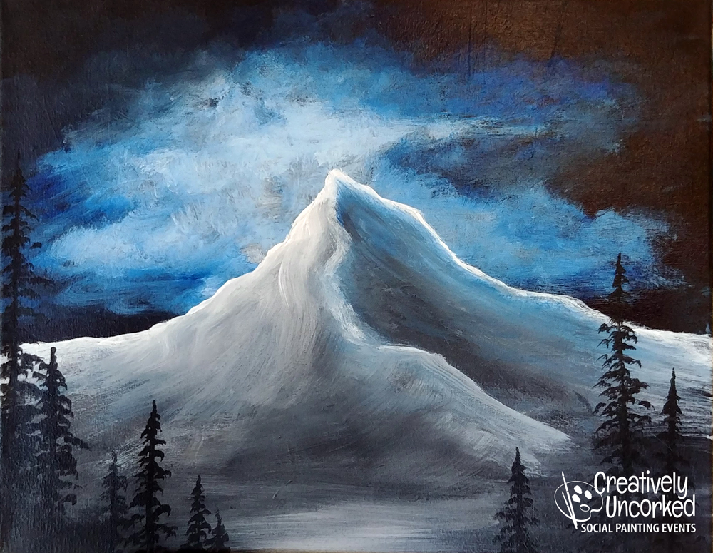 Stormy Mountain at Creatively Uncorked https://creativelyuncorked.com