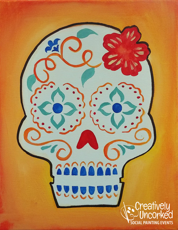 Sugar Skull at Creatively Uncorked https://creativelyuncorked.com/