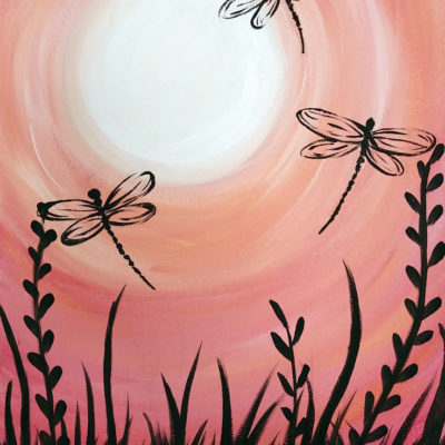 Summer Dragonflies at Creatively Uncorked https://creativelyuncorked.com/