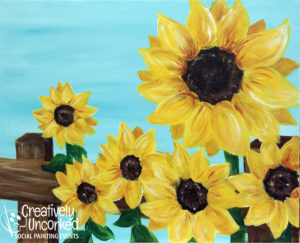 Sunflower Fence at Creatively Uncorked https://creativelyuncorked.com