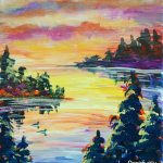 Sunset Loons at Creatively Uncorked https://creativelyuncorked.com/