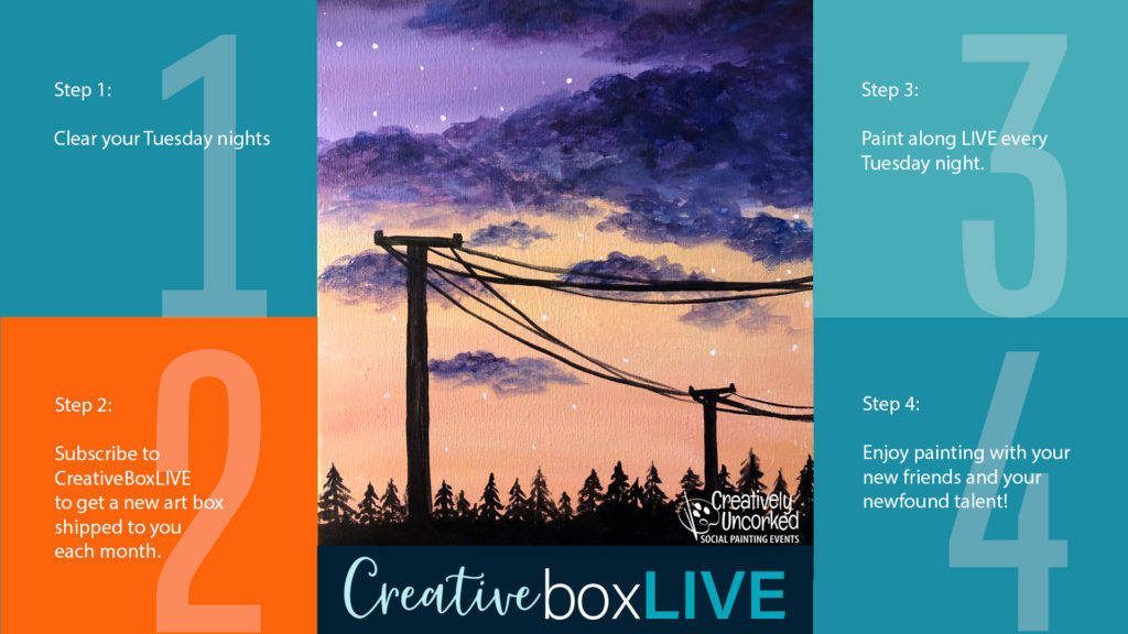 Sunset Wire CBL with CreativeBoxLIVE from Creatively Uncorked https://creativelyuncorked.com/