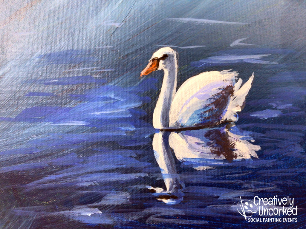 Swan at Creatively Uncorked https://creativelyuncorked.com/