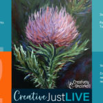 Thistle Flower CBL from Creatively Uncorked https://creativelyuncorked.com/