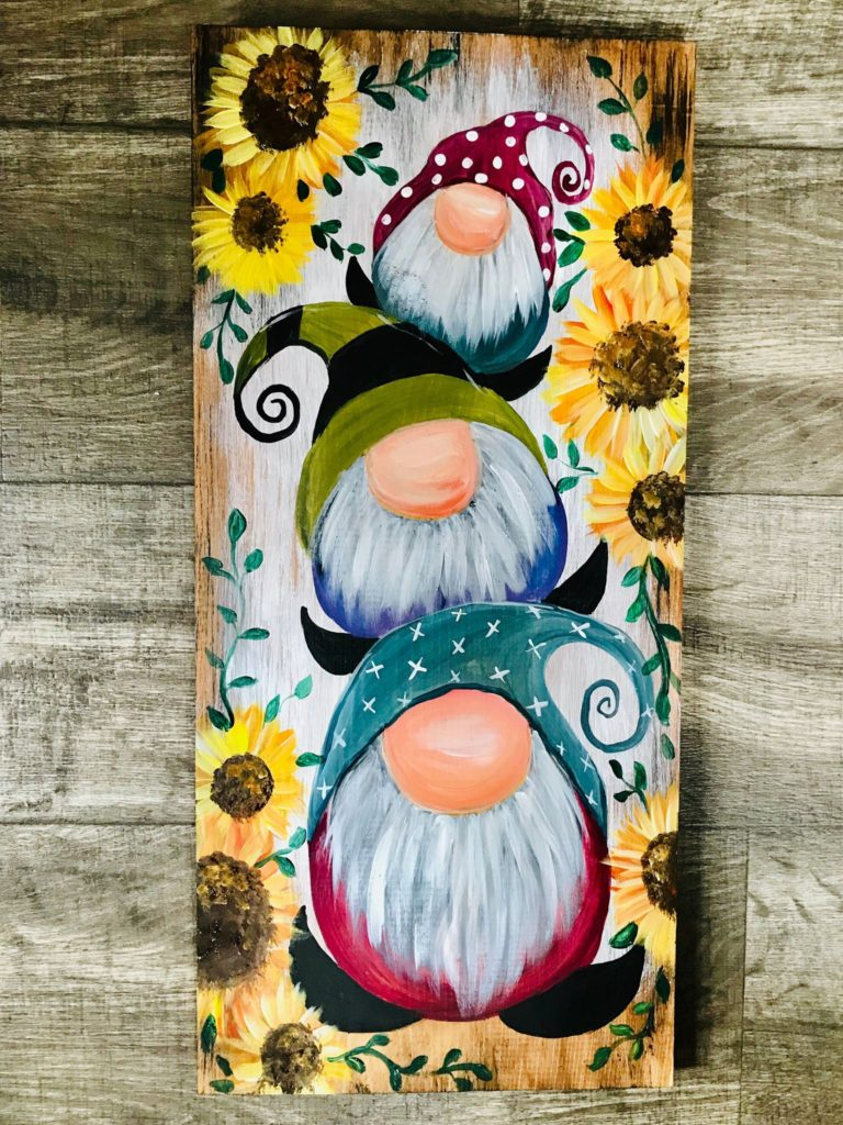 Three Gnomes at Creatively Uncorked https://creativelyuncorked.com/