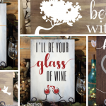 Valentine's Day Wood Signs at Creatively Uncorked https://creativelyuncorked.com/