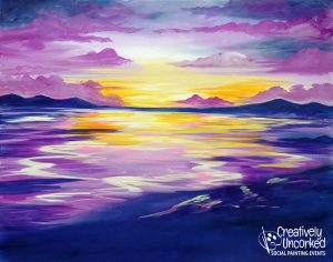 Violet Sunset @ Creatively Uncorked https://creativelyuncorked.com/