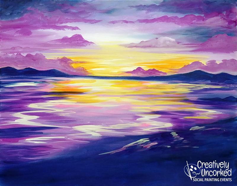 Violet Sunset @ Creatively Uncorked https://creativelyuncorked.com/