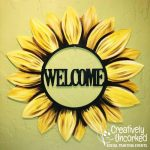 Welcome Sunflower Door Hanger at Creatively Uncorked https://creativelyuncorked.com/