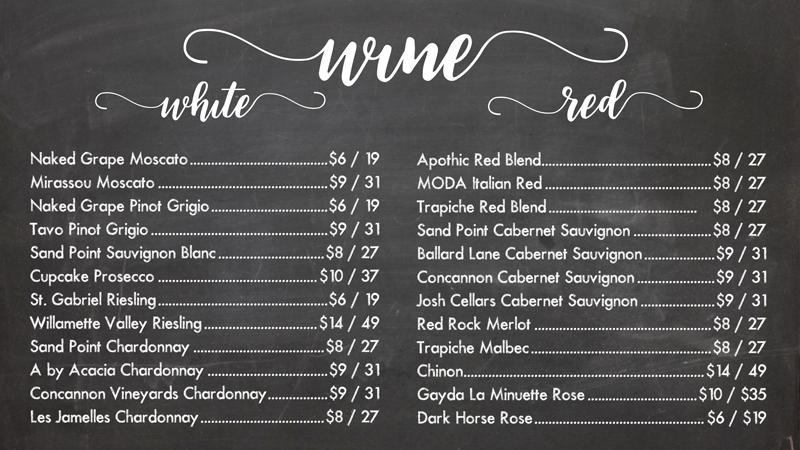 Creatively Uncorked Wine Menu | Creatively Uncorked | https://creativelyuncorked.com