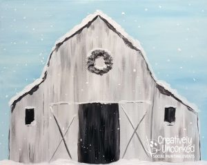 Winter Farm at Creatively Uncorked https://creativelyuncorked.com/