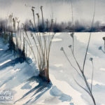 Winter Prairie Grass in Watercolor at Creatively Uncorked https://creativelyuncorked.com