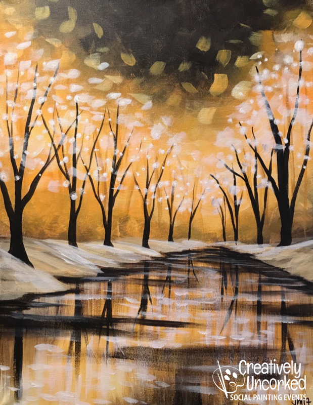 Winter Reflection at Creatively Uncorked https://creativelyuncorked.com