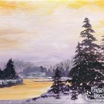 Winter River at Creatively Uncorked https://creativelyuncorked.com/