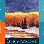 Firey Winter Sky CBL with CreativeBoxLIVE from Creatively Uncorked https://creativelyuncorked.com/
