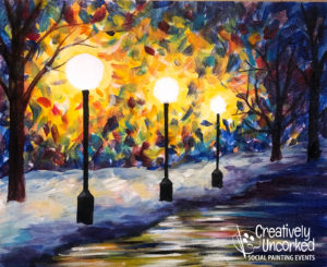 Winter's Glow at Creatively Uncorked https://creativelyuncorked.com