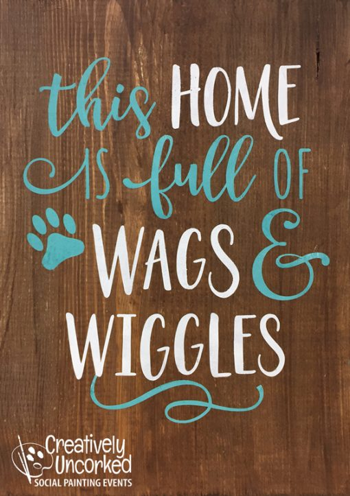 This Home is Full of Wags & Wiggles at Creatively Uncorked https://creativelyuncorked.com/