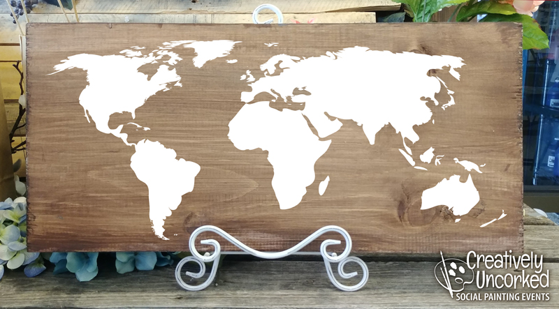 World Map 24x11 at Creatively Uncorked https://creativelyuncorked.com/