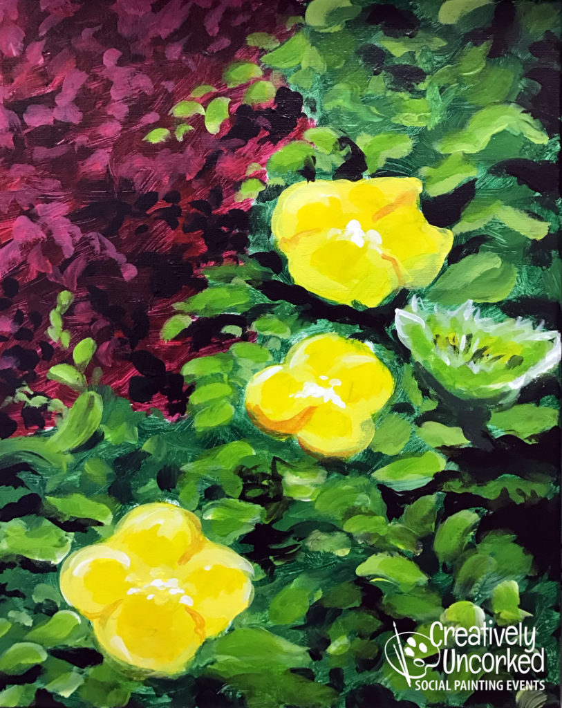 Yellow Flowers at Creatively Uncorked https://creativelyuncorked.com/