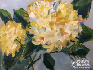 Yellow Hydrangeas at Creatively Uncorked https://creativelyuncorked.com/