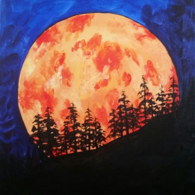 Blood Moon at Creatively Uncorked https://creativelyuncorked.com/