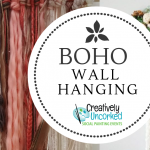 Boho Wall Hanging at Creatively Uncorked https://creativelyuncorked.com/