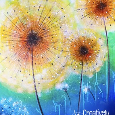 Bright Dandelion at Creatively Uncorked https://creativelyuncorked.com/
