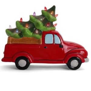 LIGHTED CHRISTMAS TREE TRUCK