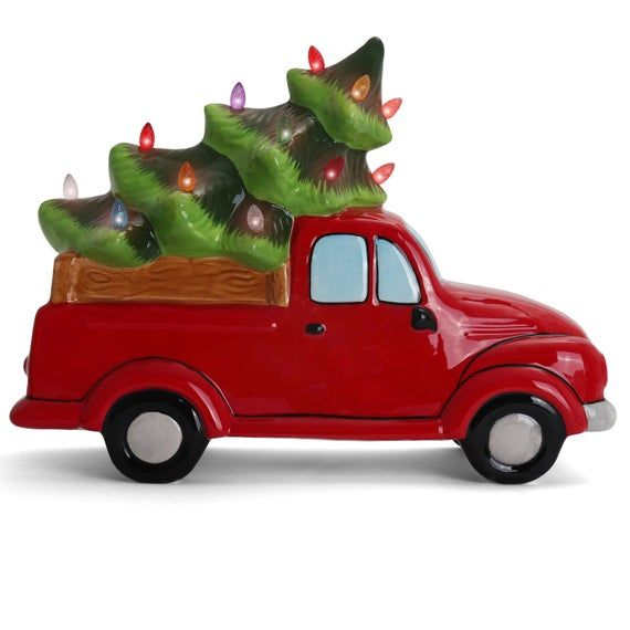 LIGHTED CHRISTMAS TREE TRUCK