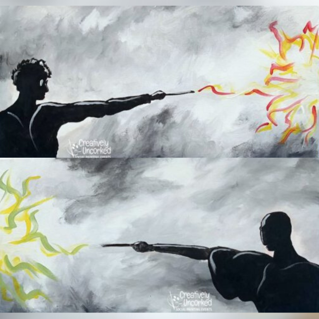 Harry Vs Voldemort at Creatively Uncorked https://creativelyuncorked.com