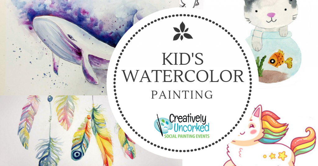 kids Watercolor Painting at Creatively Uncorked https://creativelyuncorked.com/