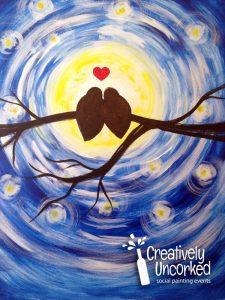 Love Birds Moon